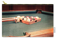 Pool Table Leather Mesh Side Pocket Carry-all Pouch