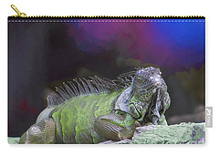 Carry-all Pouch featuring the painting Pop Iguana Edition 2 by Judy Kay