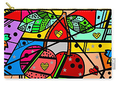 Carry-all Pouch featuring the digital art Popart Cherry By Nico Bielow by Nico Bielow