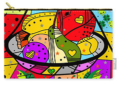 Carry-all Pouch featuring the digital art Popart Fruits By Nico Bielow by Nico Bielow