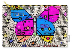 Carry-all Pouch featuring the digital art Popart New Paper By Nico Bielow by Nico Bielow