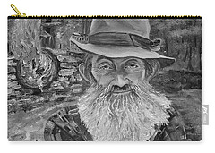 Popcorn Sutton - Black And White - Rocket Fuel Carry-all Pouch