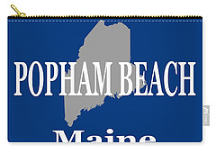 Carry-all Pouch featuring the photograph Popham Beach Maine State City And Town Pride  by Keith Webber Jr