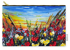 Carry-all Pouch featuring the painting Poppies 4 by Teresa Wegrzyn