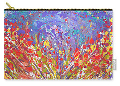 Poppies Abstract Meadow Painting Carry-all Pouch