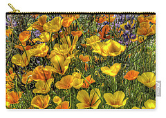 Carry-all Pouch featuring the photograph Poppies And Lupines by Jim and Emily Bush