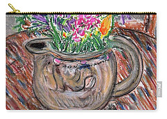 Poppies And Lupines In Pitcher Carry-all Pouch by Gerhardt Isringhaus