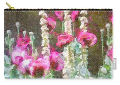 Poppies And Verbascum 2 Carry-all Pouch by Shirley Stalter