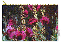 Poppies And Verbascum Carry-all Pouch by Shirley Stalter