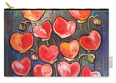 Poppies Are Hearts Of Love We Can Give Away Carry-all Pouch
