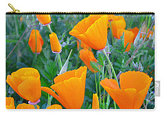 Poppies In Texture Carry-all Pouch
