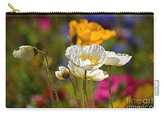 Poppies In The Spring Carry-all Pouch by Deb Halloran