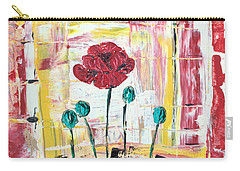 Poppies In The Window Carry-all Pouch
