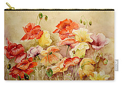 Carry-all Pouch featuring the painting Poppies by Marilyn Zalatan