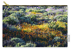 Carry-all Pouch featuring the photograph Poppies On A Hillside by Glenn McCarthy Art and Photography