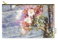Poppies On Weathered Door Carry-all Pouch by Shirley Stalter
