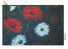 Poppin Daisies Carry-all Pouch by Leslie Allen