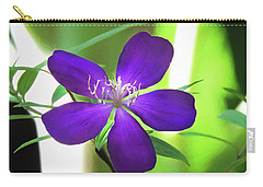 Poppin Purple Flower Carry-all Pouch