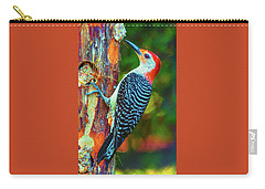 Popping Color Woodpecker Carry-all Pouch by Jim Moore