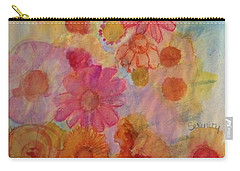 Carry-all Pouch featuring the painting Popping by Kim Nelson