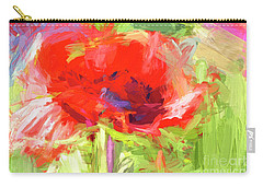 Carry-all Pouch featuring the photograph Poppy Abstract Photo Art by Sharon Talson