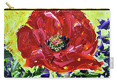 Poppy Amongst Lavender Carry-all Pouch