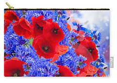 Poppy And Cornflower Flowers Carry-all Pouch