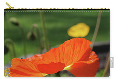 Carry-all Pouch featuring the photograph Poppy Cup by Evelyn Tambour