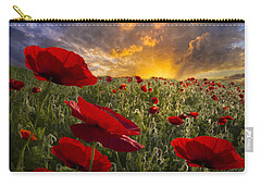 Poppy Field Carry-all Pouch by Debra and Dave Vanderlaan