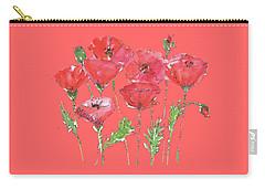 Poppy Garden Carry-all Pouch