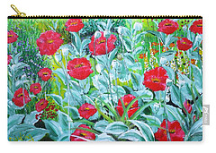Poppy Impression Carry-all Pouch