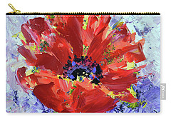 Poppy In Fields Of Lavender Carry-all Pouch