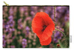 Poppy In The Lavender Field Carry-all Pouch