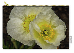 Carry-all Pouch featuring the photograph Poppy Pair by Jean Noren