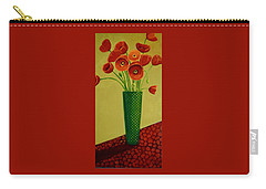 Poppy Power Carry-all Pouch by Nancy Jolley