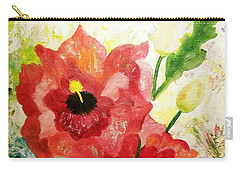 Poppy Profusion Carry-all Pouch by Maria Urso