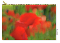 Poppy Scape Carry-all Pouch by Andrea Kollo