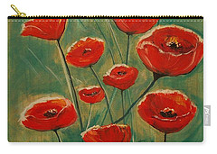 Poppy Surprise Carry-all Pouch by Leslie Allen