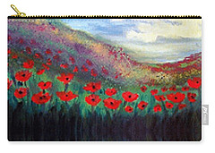 Poppy Wonderland Carry-all Pouch by Holly Martinson