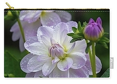 Porcelain Dahlia With Dewdrops Carry-all Pouch
