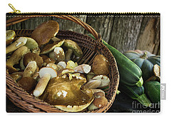 Porcini Mushrooms, Zucchini And A Pumpkin Carry-all Pouch