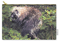 Porcupine In A Fir Tree Carry-all Pouch