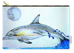 Carry-all Pouch featuring the drawing Porpoise by Mayhem Mediums
