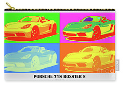 Porsche 718 Boxster S, Warhol Style, Office Decor Carry-all Pouch