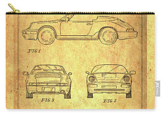 Porsche Blueprint Carry-all Pouch