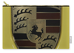 Porsche Emblem On Racing Yellow Carry-all Pouch
