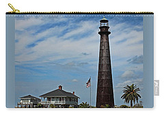 Port Bolivar Lighthouse Carry-all Pouch by Judy Vincent