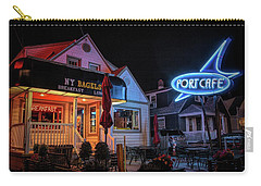 Carry-all Pouch featuring the photograph Port Cafe Wildwood by Kristia Adams