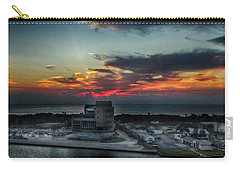 Port Everglades Sunrise Carry-all Pouch by Judy Hall-Folde