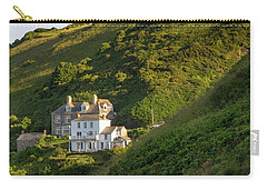 Carry-all Pouch featuring the photograph Port Isaac Homes by Brian Jannsen